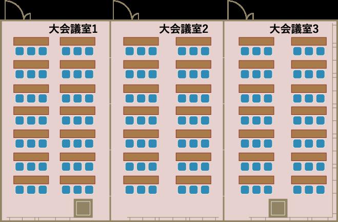 大会議室123平面図
