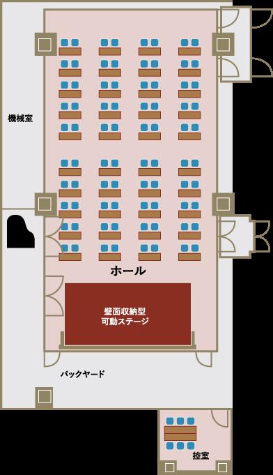 ホール平面図